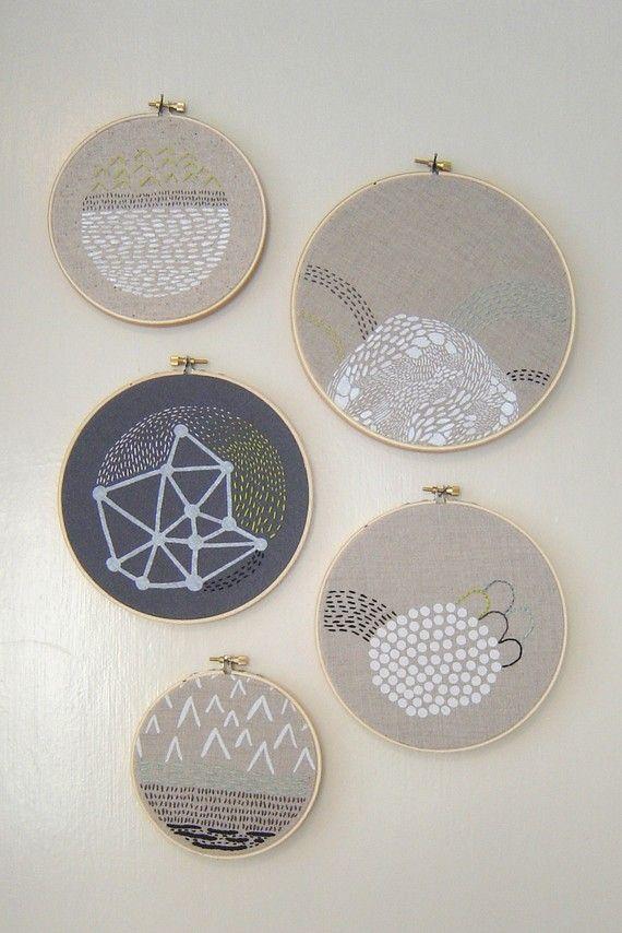Erin Dollar landscape embroidery.