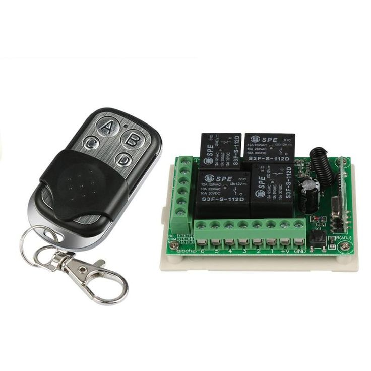 433mhz Universal 12v 4ch Relay Wireless Remote Control Switch Receiver Learning Code 1527 Module And Rf 433mhz Trans Smart Switches Electrical Equipment Remote