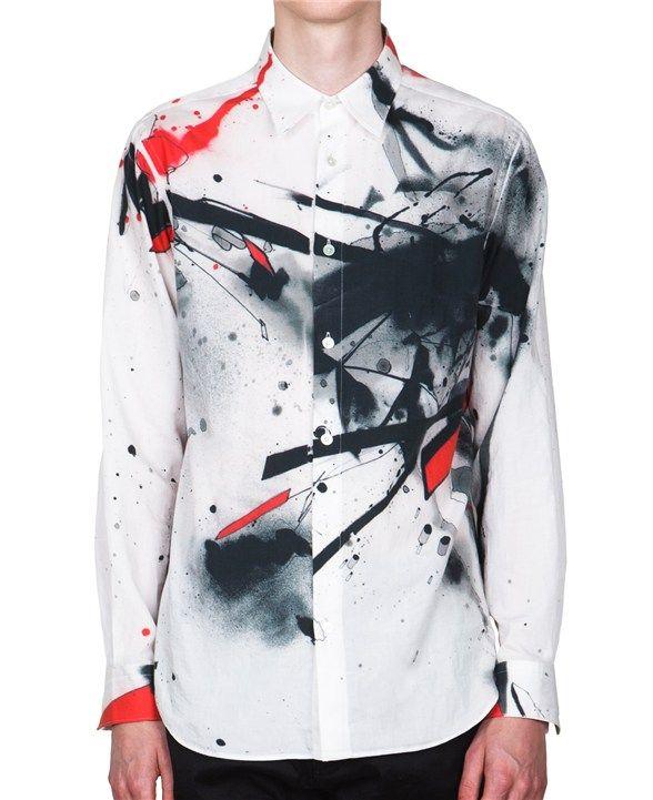 Miharayasuhiro Splattered Paint Shirt