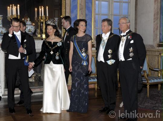 Swedish Royal Family give dinner for Finland's President Sauli Niinisto  and his wife Jenni Haukio