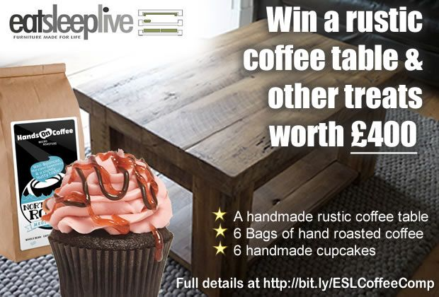 Enter our #competition to #win an #EatSleepLive #coffeetable & other #Coffee&Cake treats worth £400:  1, Follow EatSleepLive on Pinterest (http://www.pinterest.com/eatsleeplive/),  2, Re-pin this pin, 3, Pin the coffee table prize URL (http://www.eatsleeplive.co.uk/living-room-furniture/coffee-tables/coffee-table-with-shelf.html), 4, Just drop us a note in the comments below to let us know you've entered! Ts & Cs here: http://www.eatsleeplive.co.uk/blog/competitions/coffee-and-cake/