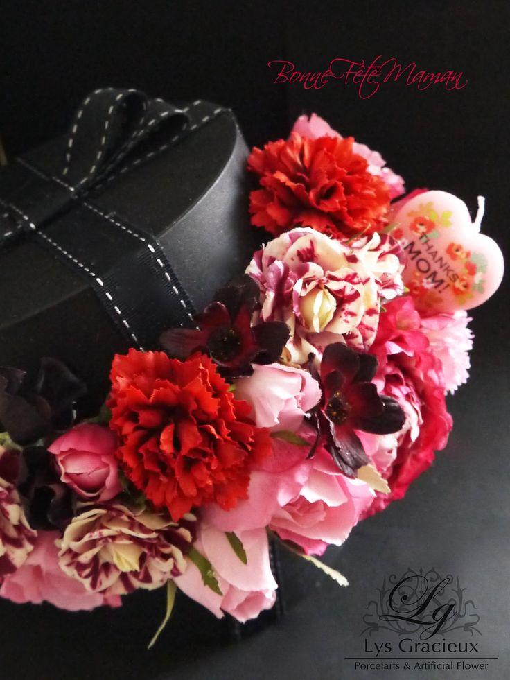 Sapporo Artificial Flower Salon,  Round Box, MOKUBA Ribbon, Mother7
