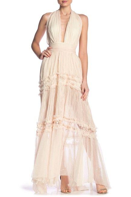 a169099004 Image of Meghan LA Halter Maxi Dress Haute Look