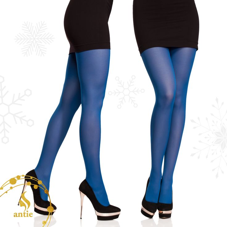 Blue Christmas Style? Microfibre tights from #antie #antiewear #christmas