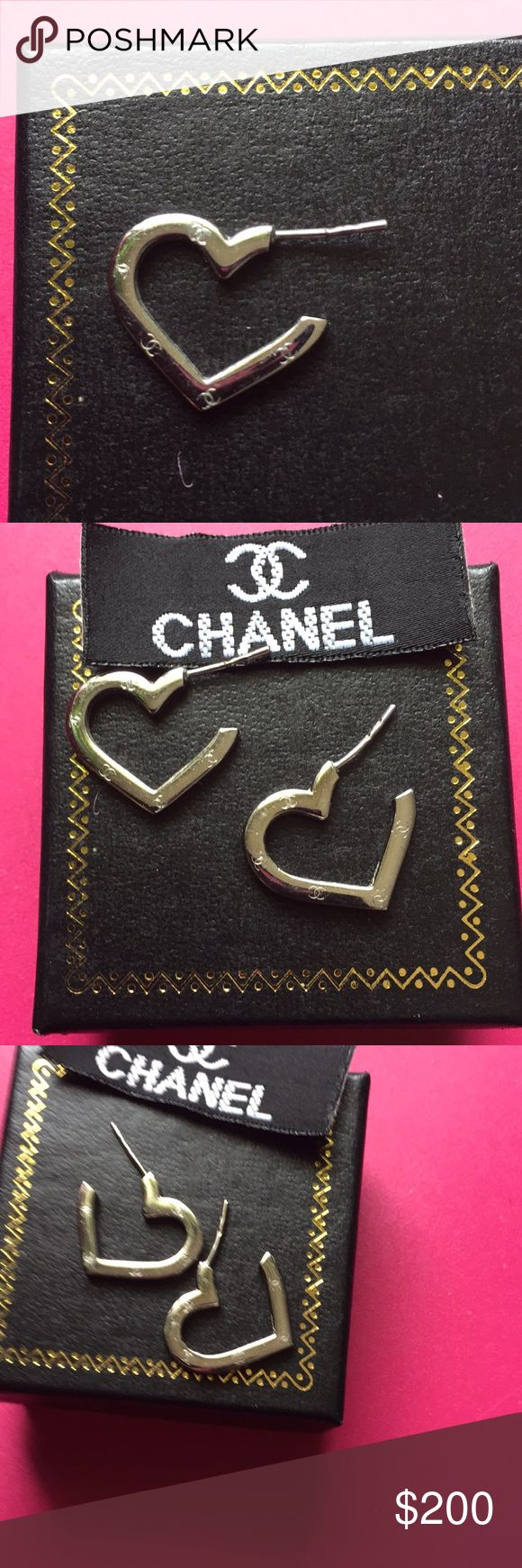 Channel earring Channel earring do not have Original back's but will send backs with them these a priced low cuz no box TV higher  also were a gift looking into Authenticity I did see them on Tradesy as authentic if anyone out there know that would b great an would not change the price but priced to sell CHANEL Jewelry Earrings