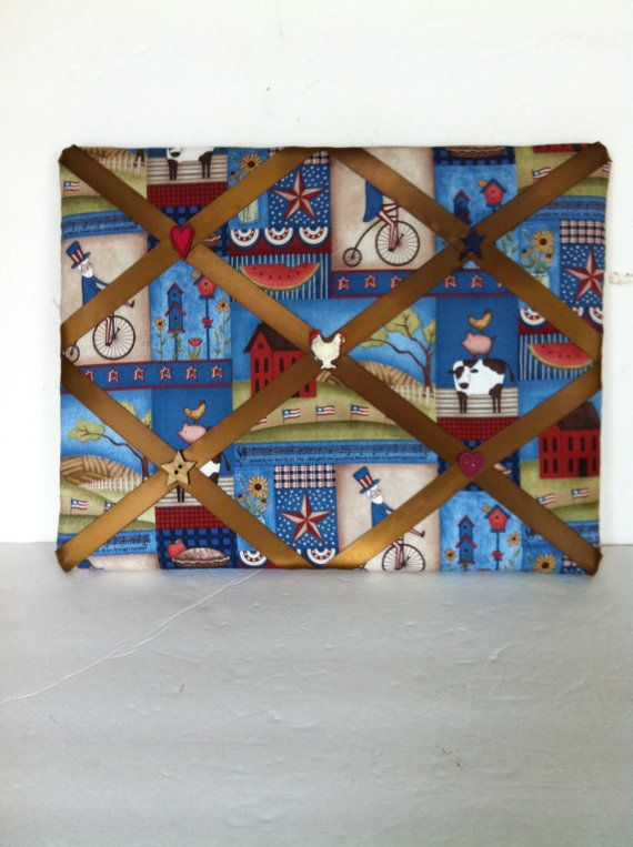 Check out this item in my Etsy shop https://www.etsy.com/listing/238576929/americana-patriotic-french-memo-board