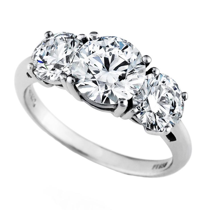 internally flawless diamond three stone ring
