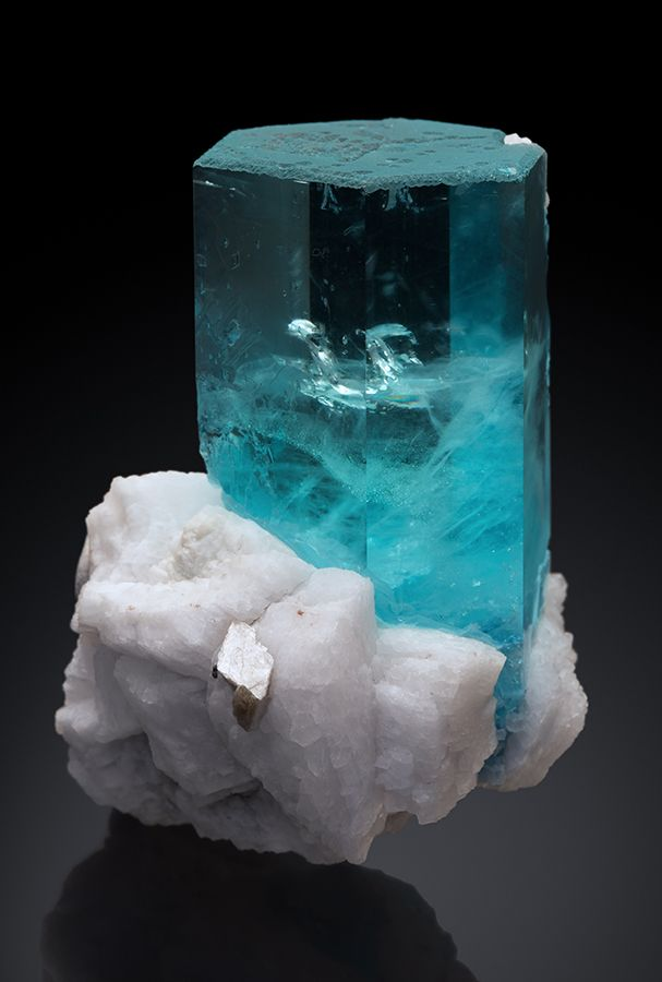 Aquamarine and Albite - Shigar Valley, Skardu District, Baltistan, Gilgit-Baltistan (Northern Areas), Pakistan