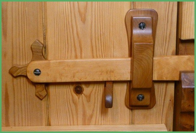 Homemade Wooden Door Latches