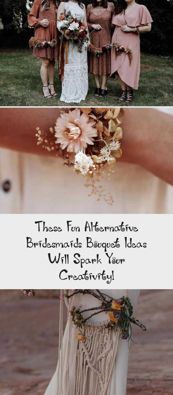 These Fun Alternative Bridesmaids Bouquet Ideas Will Spark Your Creativity! - Green Wedding Shoes #BurgundyBridesmaidDresses #BlushBridesmaidDresses #BridesmaidDresses2019 #BridesmaidDressesPurple #BridesmaidDressesWinter