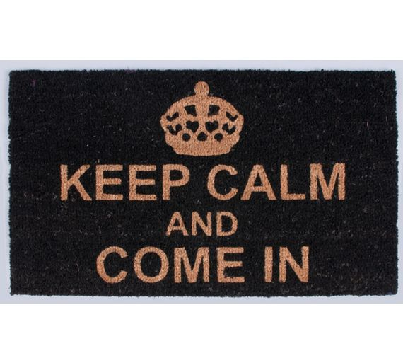 Buy HOME Keep Calm and Come In Coir Doormat at Argos.co.uk, visit Argos.co.uk to shop online for Rugs and mats, Home furnishings, Home and garden