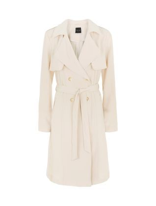 Your work wardrobe needs a stylish yet timeless mac, and this Cream Drape Belted Trench Coat delivers both. #newlook #fashion