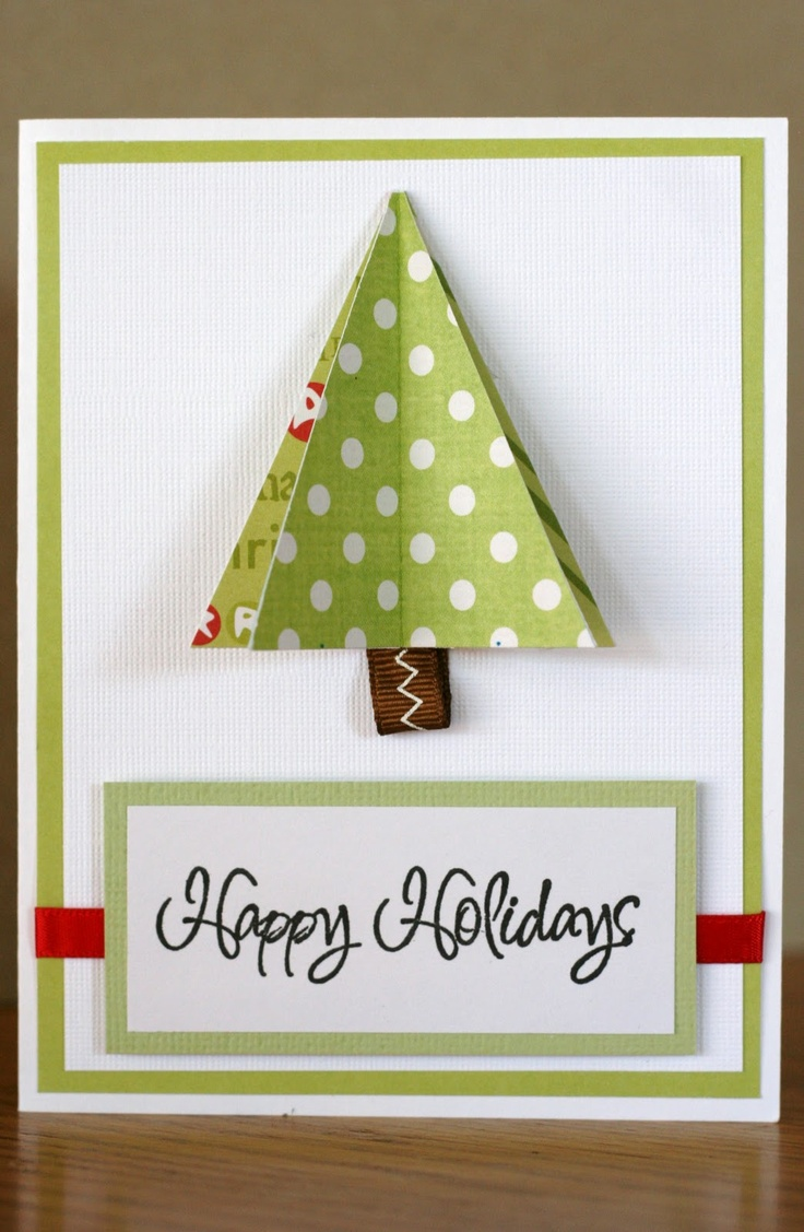 Scrapbook ideas christmas card - Tri Fold Christmas Tree