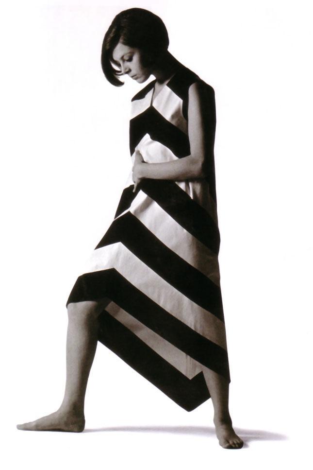 Marimekko cotton dress designed by Annika Rimala, 1967. Fabric designed by Vuokko Nurmesniemi.