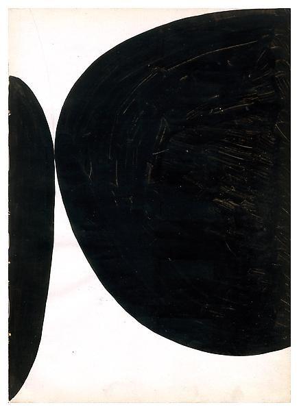 """1954.- """"Sin título / Untitled"""". ELLSWORTH KELLY. Un día llevó una pintura suya (valorada en 5 millones de solares) a un Restaurante donde se vendían obras de arte y lo dejó 3 días sin que nadie hubiera reparado en él. Después de eso, publicó un estudio sobre LA IMPORTANCIA DEL CONTEXTO EN LA OBRA DE ARTE."""
