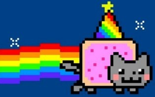 Nyan Cat, the Internet's favorite 8-bit animated feline, turns one year old today after surviving a whirlwind 12 months as a Pop-Tart-shaped viral sensation.    Illustrator Chris Torres introduced Nyan Cat to the masses on April 5, 2011, when he uploaded a video of it to YouTube. The clip ...