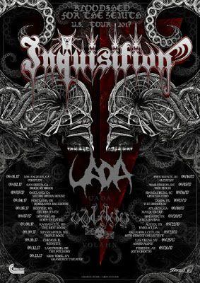 Long Live The Loud 666: BLOODSHED FORTHEZENIT U.S TOUR 2017 WITH:INQUISITI...