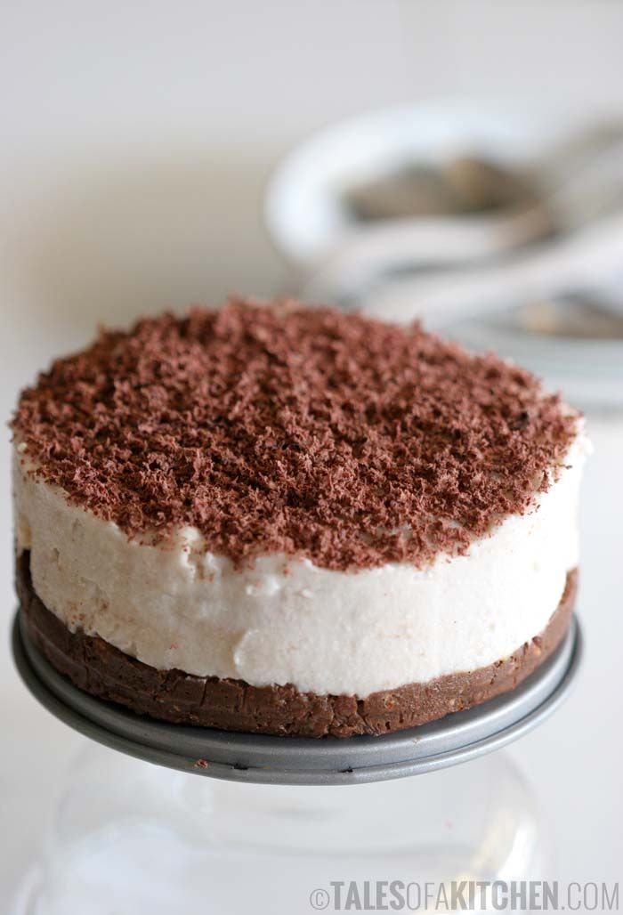 Banana coconut cream cake with brownie base