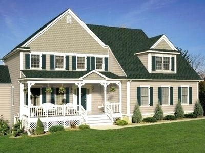 house colors with green roof house roof colors combination on house paint color combinations exterior id=99332