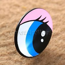"""1""""x0.75"""" Plastic DIY Craft Safety Oval Eyes for Toy Puppets Doll Making 10 50Pcs"""