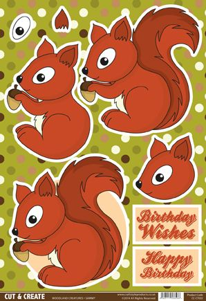 Buzzcraft Woodland Creatures Cut & Create - Sammy Squirrel