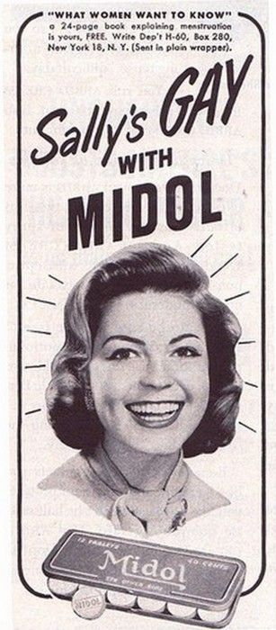 Sally's gay with Midol....the begining of the LGBT movement. Lol