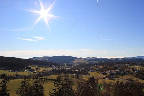 Ausblick vom Baumwipfelpfad Bayerischer Wald
