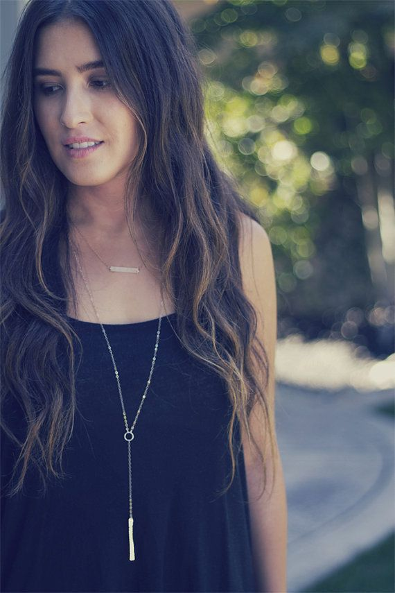 bar necklace lariat necklace long necklace layer by laosborn