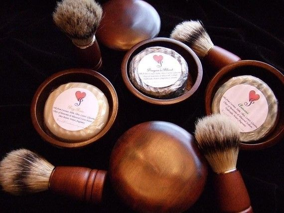 MEN'S HARDWOOD Shaving Kit with SHAVING Soap with Rhassoul and Bentonite Clays $29.99