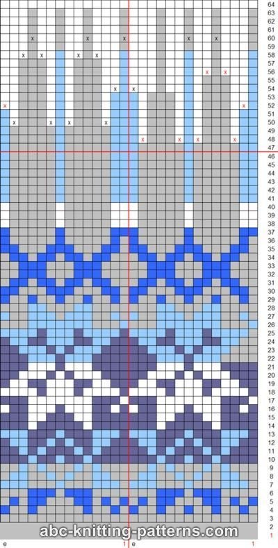ABC Knitting Patterns - Fair Isle Earflap Hat.