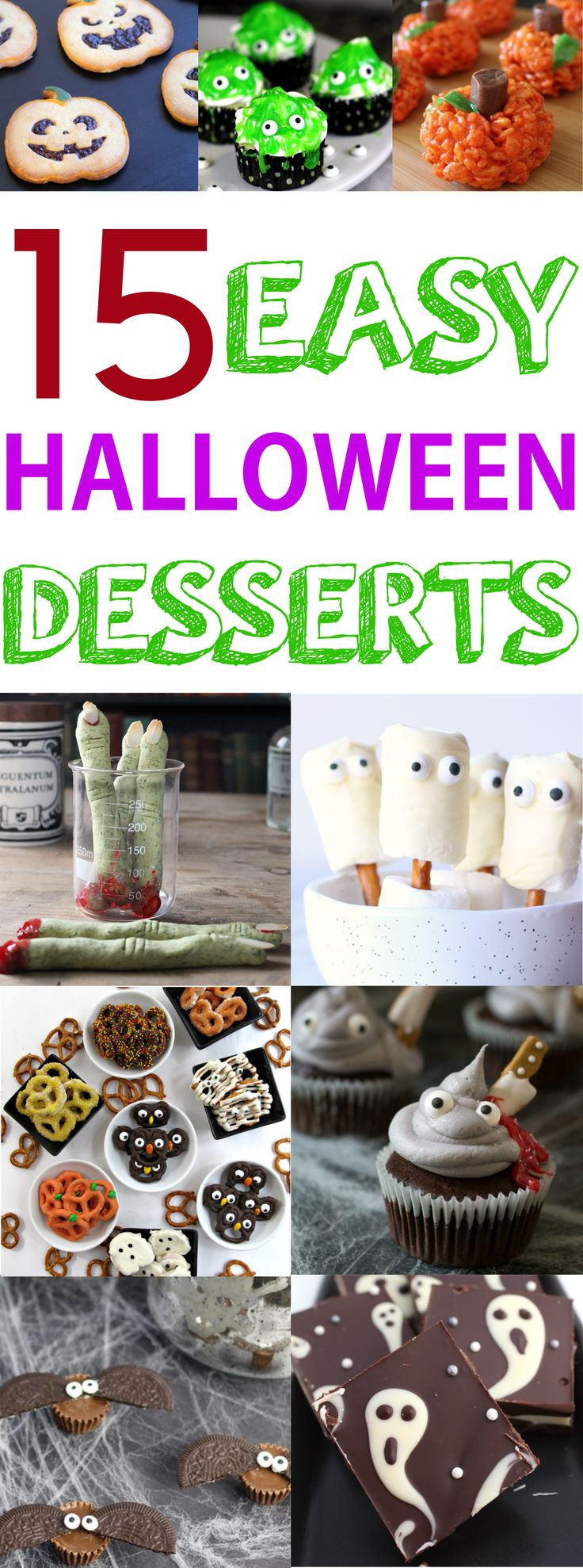 Trick or treat? I am going to jazz up the treats in this Halloween! These Halloween dessert recipes are so easy to make! Many no-bake recipes and most of them requires less then five ingredients. #halloween #halloweenmakeup #halloweenparty #halloweenrecipes #halloweenready #halloweendesserts #halloweentreats