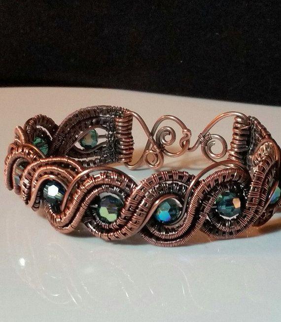 TUTORIAL Double Twisted Wire Weave Bracelet Por