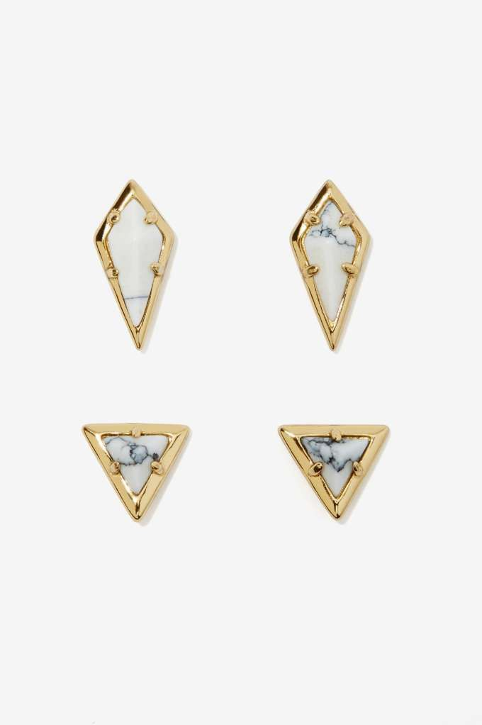 Luv AJ Howl and Dagger Earring Set - 4 pc.