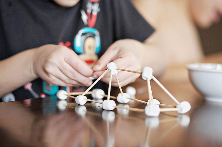 marshmallows and toothpicks