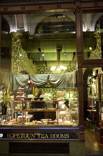 Hopetoun Tea Room - Blcok Arcade, Melbourne, Australia. Such an inviting scene even if you don't drink tea. ASPEN CREEK TRAVEL - karen@aspencreektravel.com
