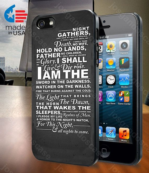 The Night's Watch Oath for iPhone 4/4S 5/5S and by josgandoscase, $14.79