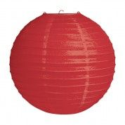 "Red 12"" Round Paper Lantern - use these to decorate your indoor or outdoor Canada Day party! Find them at www.partystock.ca"
