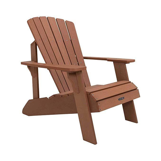 Amazon Com Lifetime Faux Wood Adirondack Chair Brown 60064 Garden Outdoor In 2020 Wood Adirondack Chairs Adirondack Chair Folding Adirondack Chairs