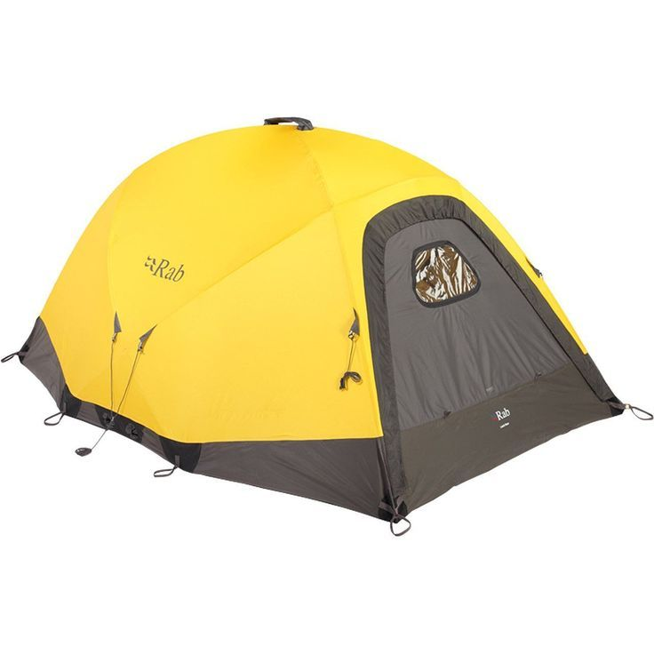 The Rab Latok Base is a tent designed for remote base camps and extreme locations. The lightweight 3L 15D eVent shell keeps this 4-person, 4 season tent under 8 pounds. But don't let this fool you. Wi