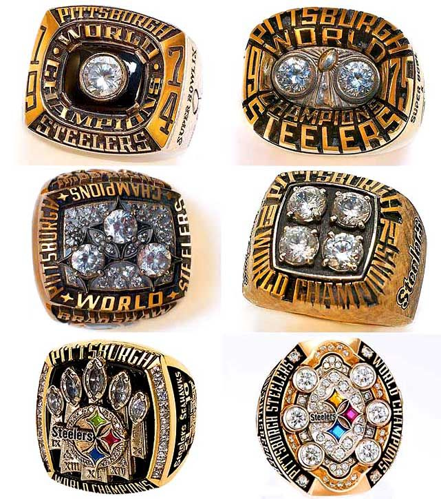Pittsburgh Steelers - 6 Super Bowls - I actually got to try the most recent ring on! ONE FOR THE THUMB!!!
