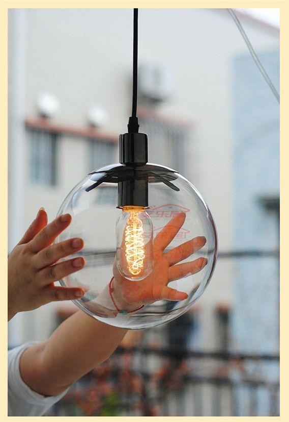 69.00$  Watch now - http://ali00q.worldwells.pw/go.php?t=1569552481 - modern 20CM glass hanging lamp lighting fixtures restaurants large chandelier lamp chandelier bar lamp