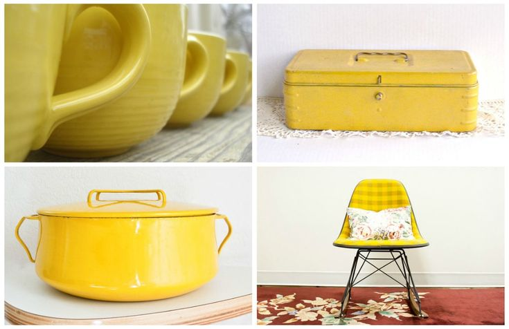 Lovely Vintage Buttercup Yellow Kitchen accessories