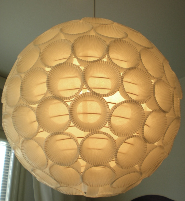 Pimped my lampshade - with cupcake moulds :)