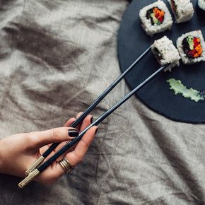 Master using chopsticks