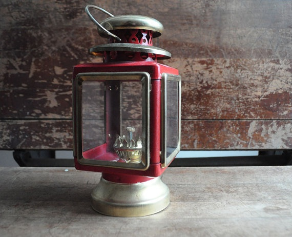 Red Oil Lantern by TheLostCobbler on Etsy