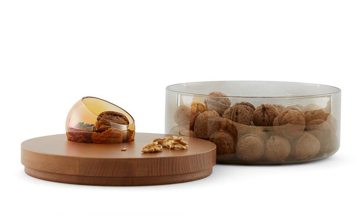 Oasi - Glass containers with wooden lid | Incipit: design made in Italy – Incipit lab —Objects & home accessories, designed and made in Italy