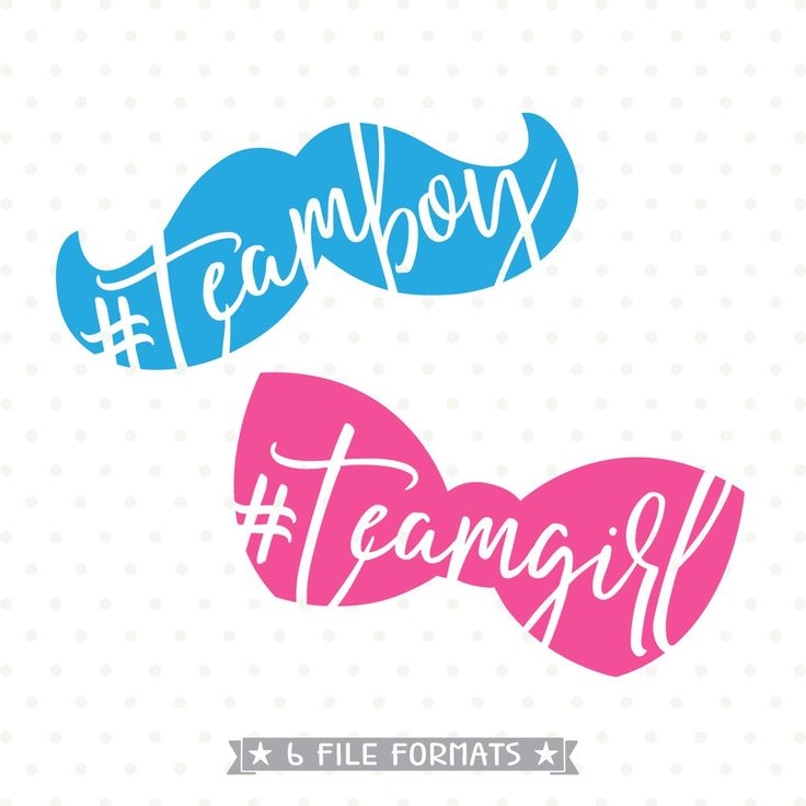 gender reveal svg file team boy svg team girl svg