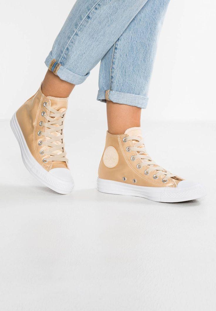 Converse. CHUCK TAYLOR ALL STAR - Zapatillas altas - parchment/white. Suela:fibra sintética. Forma del tacón:plano. Plantilla:tela. Puntera:redonda. Estampado:unicolor. Material interior:tela. Cierre:con cordones. Material exterior:tela