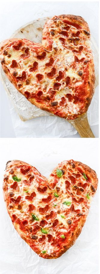 make a heart shaped pizza with pepperoni hearts for valentine's day! from @howsweeteats