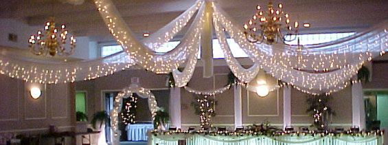 decorating with fabric for weddings | ... fabric lighted ceiling decorations for weddings and other formal